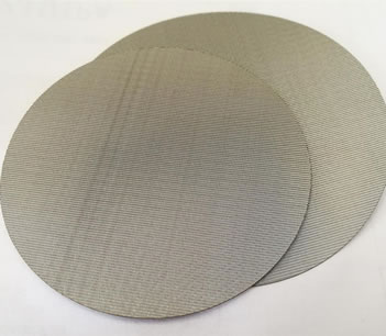 Three round SS woven cloth discs with different size