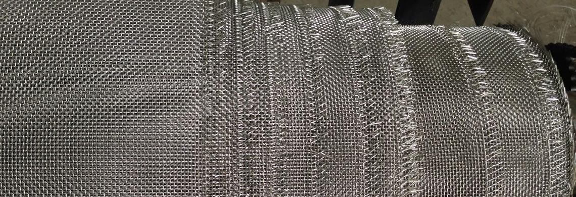 A roll of stainless steel wire cloth with burr